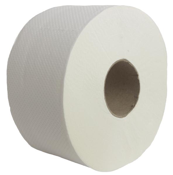 Toilettenpapier 2-lagig, hochweiß (ZS), Mini-Jumbo, 140 m lang, 12 Rollen / VE