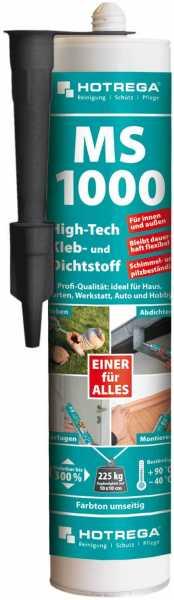 Hotrega MS 1000 High-Tech Kleb- und Dichtstoff 290 ml Kartusche, schwarz