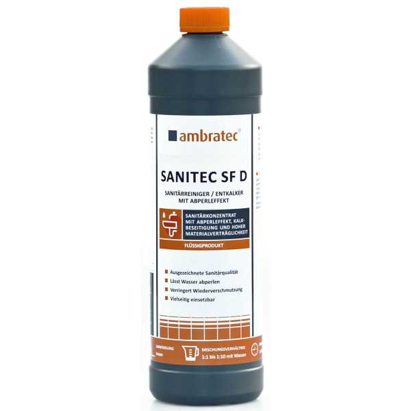 Ambratec Sanitec SF D Sanitärreiniger / Entkalker mit Abperleffekt