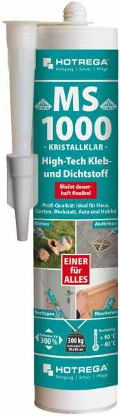 Hotrega MS 1000 High-Tech Kleb- und Dichtstoff 290 ml Kartusche, transparent