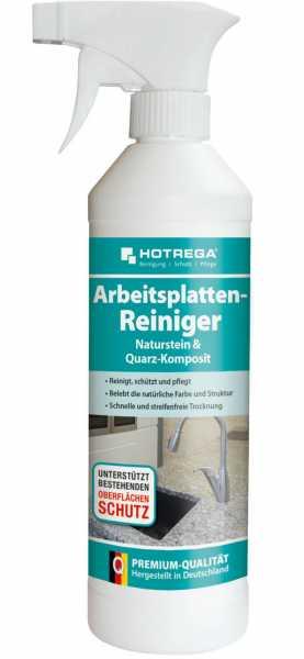 """Hotrega Arbeitsplatten-Reiniger """"Naturstein + Quarz- Komposit"""" 500 ml Sprühflasche"""