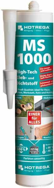 Hotrega MS 1000 High-Tech Kleb- und Dichtstoff 290 ml Kartusche, weiß