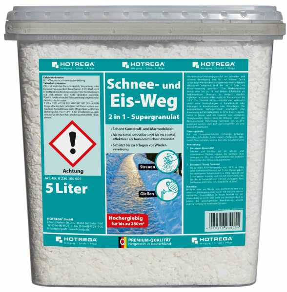 """Hotrega Schnee- und Eis-Weg """"2 in 1 Supergranulat"""" 5 Liter Eimer"""